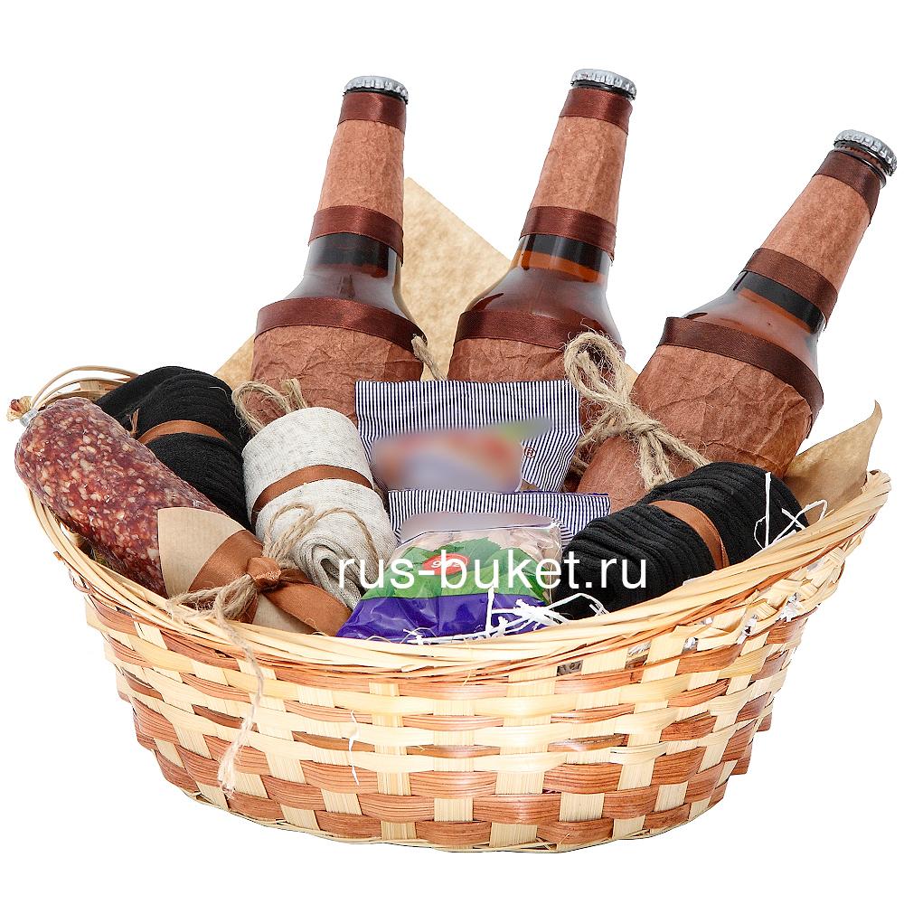 Подарок пиво в корзинке 7